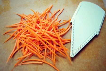 Julienne mandoline cuts.