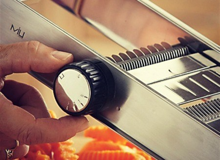 Pro Stainless Steel Mandoline Slicer with BONUS Food Pusher